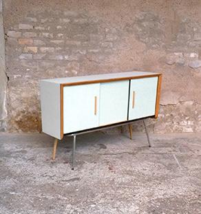 buffet_formica_bleu_gris_chene_dore_vintage_bois_retro_design_annee_50_60_70_unique_original_gentlemen_designers_strasbourg_paris_alsace_handschuheim_bas-rhin_france_vignette
