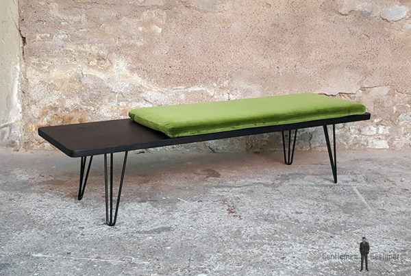 Banc_chene_teinte_ebene_vert_tissu_vintage_sur_mesure_creation_design_annee_50_60_fabriquer_france_made_in_gentlemen_designers_strasbourg_alsace_francais-(7)