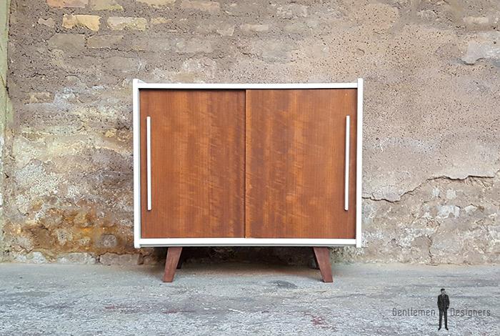Meuble_2_portes_blanc_noyer_pied_compas_vintage_unique_original_gentlemen_designers_strasbourg_paris_alsace_handschuheim_bas-rhin_france-(2)