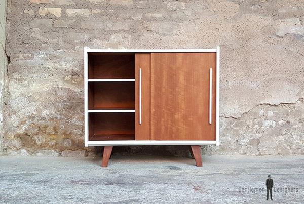 Meuble_2_portes_blanc_noyer_pied_compas_vintage_unique_original_gentlemen_designers_strasbourg_paris_alsace_handschuheim_bas-rhin_france-(5)