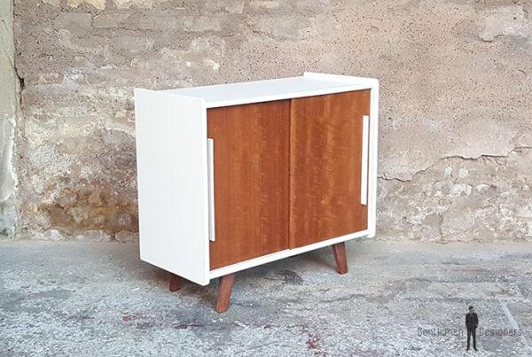 Meuble_2_portes_blanc_noyer_pied_compas_vintage_unique_original_gentlemen_designers_strasbourg_paris_alsace_handschuheim_bas-rhin_france-(6)