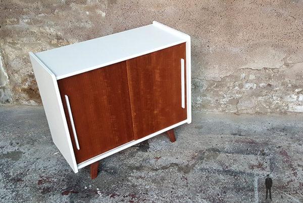 Meuble_2_portes_blanc_noyer_pied_compas_vintage_unique_original_gentlemen_designers_strasbourg_paris_alsace_handschuheim_bas-rhin_france-(8)