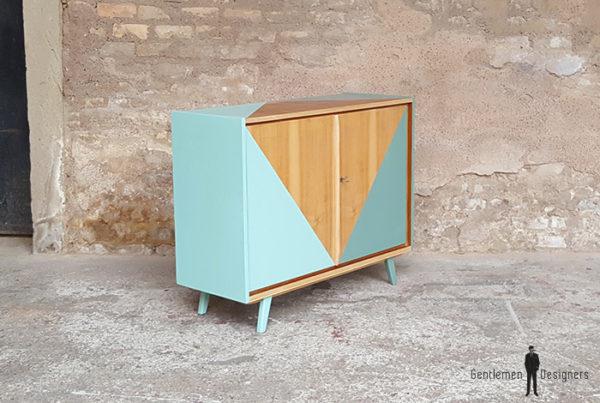 Meuble_graphique_vert_turquoise_pied_compas_vintage_unique_original_gentlemen_designers_strasbourg_paris_alsace_handschuheim_bas-rhin_france-(4)
