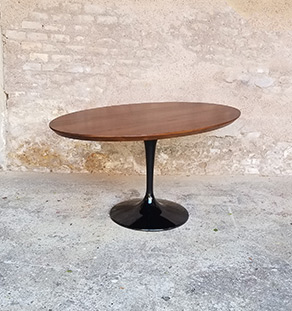Table_teck_massif_birmanie_ovale_pied_noir_tulipe_sur_mesure_vintage_unique_original_gentlemen_designers_strasbourg_paris_alsace_handschuheim_bas-rhin_france-vignette