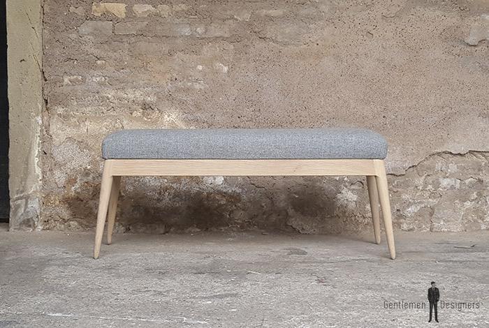 creation petit banc tissu pi tement ch ne sur mesure. Black Bedroom Furniture Sets. Home Design Ideas