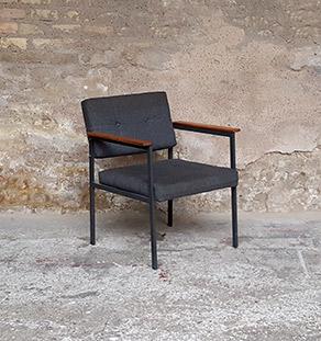 fauteuil_tissus_gris_teck_pieds_metal_vintage_tiroir_gentlemen_designers_strasbourg_alsace_paris_vignette