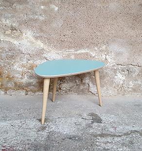 table_basse_tripode_turquoise_vintage_unique_original_gentlemen_designers_strasbourg_paris_alsace_handschuheim_bas-rhin_france-vignette