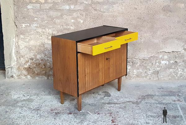 meuble_rangement_2_tiroirs_2_porte_jaune_noir_vintage_unique_original_gentlemen_designers_strasbourg_paris_alsace_handschuheim_bas-rhin_france-(6)