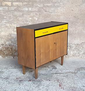 meuble_rangement_2_tiroirs_2_porte_jaune_noir_vintage_unique_original_gentlemen_designers_strasbourg_paris_alsace_handschuheim_bas-rhin_france-vignette
