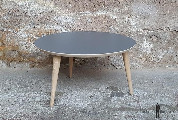 Table basse ronde gris 60cm produit d exposition - Destockage table basse ...