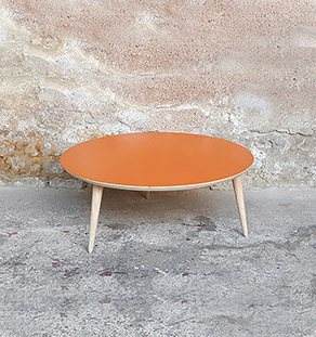 table_basse_ronde_orange_vintage_unique_original_gentlemen_designers_strasbourg_paris_alsace_handschuheim_bas-rhin_france-vignette