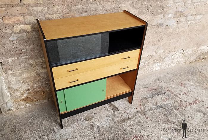buffet_chene_vert_kaki_noir_tiroirs_portes_verre_sur_mesure_vintage_unique_original_gentlemen_designers_strasbourg_paris_alsace_handschuheim_bas-rhin_france-(6)