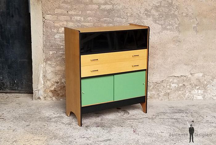 buffet_chene_vert_kaki_noir_tiroirs_portes_verre_sur_mesure_vintage_unique_original_gentlemen_designers_strasbourg_paris_alsace_handschuheim_bas-rhin_france-(8)