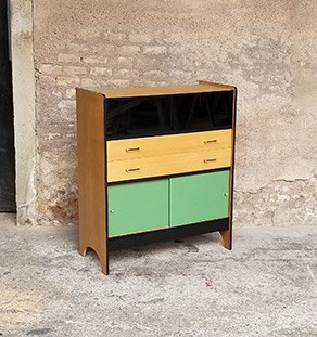 buffet_chene_vert_kaki_noir_tiroirs_portes_verre_sur_mesure_vintage_unique_original_gentlemen_designers_strasbourg_paris_alsace_handschuheim_bas-rhin_france-vignette