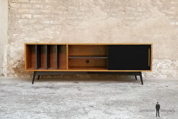 meuble_tv_teck_vert_valcromat_noir_vinyle_sur_mesure_vintage_unique_original_gentlemen_designers_strasbourg_paris_alsace_handschuheim_bas-rhin_france-(2)