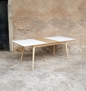 table_a_manger_rallonges_stratifiee_blanc_centrale_plaque_chene_sur_mesure_vintage_unique_original_gentlemen_designers_strasbourg_paris_alsace_handschuheim_bas-rhin_france-vignette