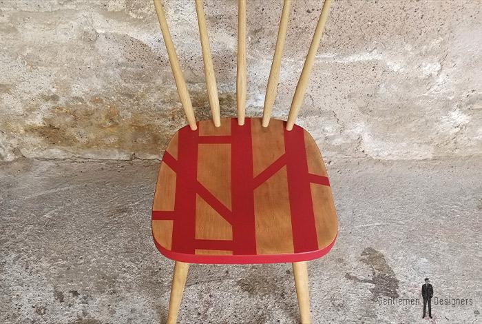 chaise_bureau_rouge_motif_graphique_barreaux_sur_mesure_vintage_unique_original_gentlemen_designers_strasbourg_paris_alsace_handschuheim_bas-rhin_france-(3)