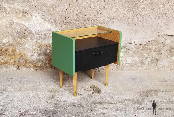 chevet_relooke_vert_noir_verre_chene_sur_mesure_vintage_unique_original_gentlemen_designers_strasbourg_paris_alsace_handschuheim_bas-rhin_france-(2)