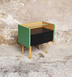 chevet_relooke_vert_noir_verre_chene_sur_mesure_vintage_unique_original_gentlemen_designers_strasbourg_paris_alsace_handschuheim_bas-rhin_france-vignette
