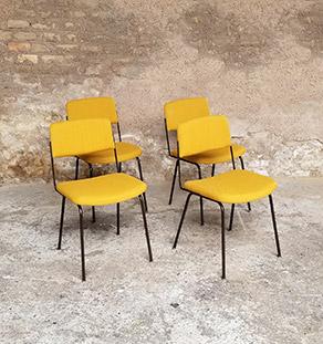 lot_4_chaises_jaune_tissus_sur_mesure_vintage_unique_original_gentlemen_designers_strasbourg_paris_alsace_handschuheim_bas-rhin_france-vignette