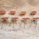 lot_4_chaises_simili_cuir_skai_brun_pieds_metal_sur_mesure_vintage_unique_original_gentlemen_designers_strasbourg_paris_alsace_handschuheim_bas-rhin_france-(4)