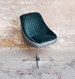 fauteuils coque tissus pied m tal tissus vert gris. Black Bedroom Furniture Sets. Home Design Ideas