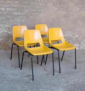 lot_4_chaises_plastique_jaune_sur_mesure_vintage_unique_original_gentlemen_designers_strasbourg_paris_alsace_handschuheim_bas-rhin_france-vignette