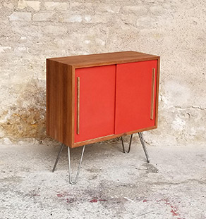 meuble_teck_rangement_pieds_industriel_metal_orange_sur_mesure_vintage_unique_original_gentlemen_designers_strasbourg_paris_alsace_handschuheim_bas-rhin_france--vignette