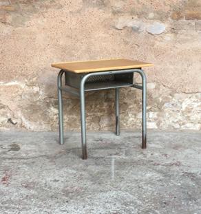 Gentlemen designers mobilier vintage et creation made in - Petit bureau ecolier en bois ...