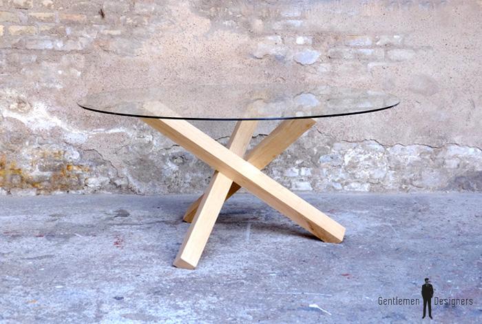 311f657a3e2b9 CREATION SUR-MESURE    TABLE REPAS   RONDE   PLATEAU VERRE   TAM-VR-03