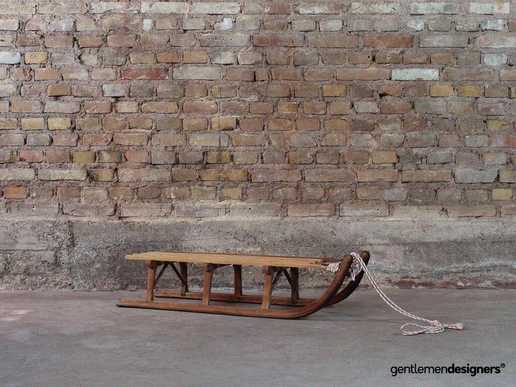 luge ancienne en bois 2 personnes ann es 50 gentlemen designers