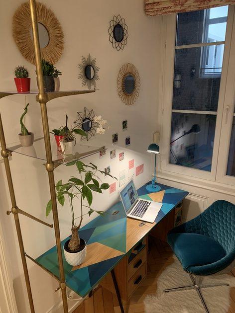 rénovation relooking bureau vintage